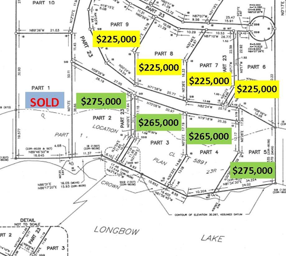 Longbow Lake Lot Plan zoom